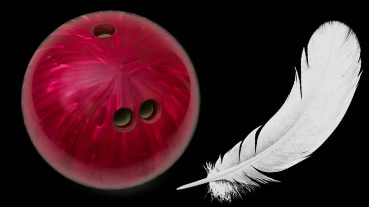 When you drop a heavy metal ball and a feather from a certain height which one does fall first?